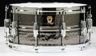 Ludwig 6.5x14 Hammered Black Beauty Snare Drum w/Die Cast Hoops