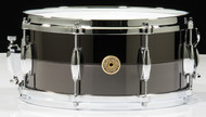 Gretsch Black Chrome over Solid Steel 6.5x14 Snare Drum Limited