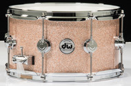DW Collector's Snare 7x13 - Champagne Sparkle - Chrome Hardware