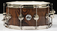 "DW Collector's 6.5"" x 14"" Snare Drum - Natural Walnut Crotch - Nickel Hardware"