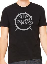 CymbalFusion.com T-Shirt Black with White Logo