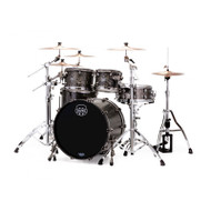 Mapex Saturn V Exotic Shell 4pc Rock Shell Pack - Flat Black Maple Burl