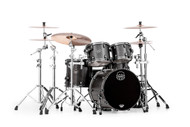 Mapex Saturn V Exotic Shell 4pc Fusion Shell Pack - Flat Black Maple Burl