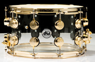 DW Collector's 8x14 Snare - Acrylic with Gold Hardware