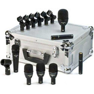 Audix has revolutionized drum and percussion miking by designing specific mics for specific instruments. The Fusion Series microphones, which are designed, assembled, and tested by Audix in the USA, fulfill all the performance criteria required for profes - All-in-one solution for drum miking - Instrument-specific mics for optimal results, Cost-effective, Rugged Audix quality - Aluminum carrying case - One F5 dynamic mic, 3 F2 dynamic mics, One F6 dynamic mic, 2 F9 dynamic mics - Six D Clips one MC1 clip-on Aluminum carrying case with foam inserts.