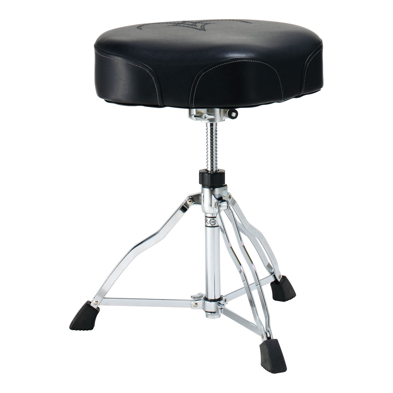 The Ergo Rider provides absolute ergonomic comfort and support. The hybrid of a round seat and a saddle style seat, it offers the maneuverability of the former, and the playing support of the latter. The front cutaway allows unimpeded thigh movement even during the most rapid double bass patterns.