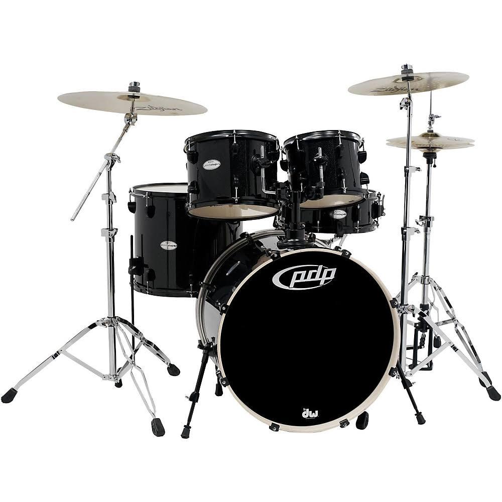 pdp mainstage complete drum set black metallic. Black Bedroom Furniture Sets. Home Design Ideas