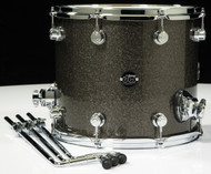 DW Performance Series 12x14 Floor Tom - Pewter sparkle