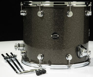 DW Performance Series 14x16 Floor Tom - Pewter sparkle