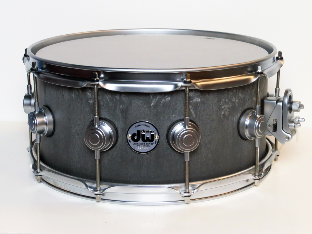 dw collector 39 s series concrete snare drum satin chrome. Black Bedroom Furniture Sets. Home Design Ideas