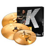 Zildjian K Custom Hybrid Cymbal Pack 4pc Free 17 Crash