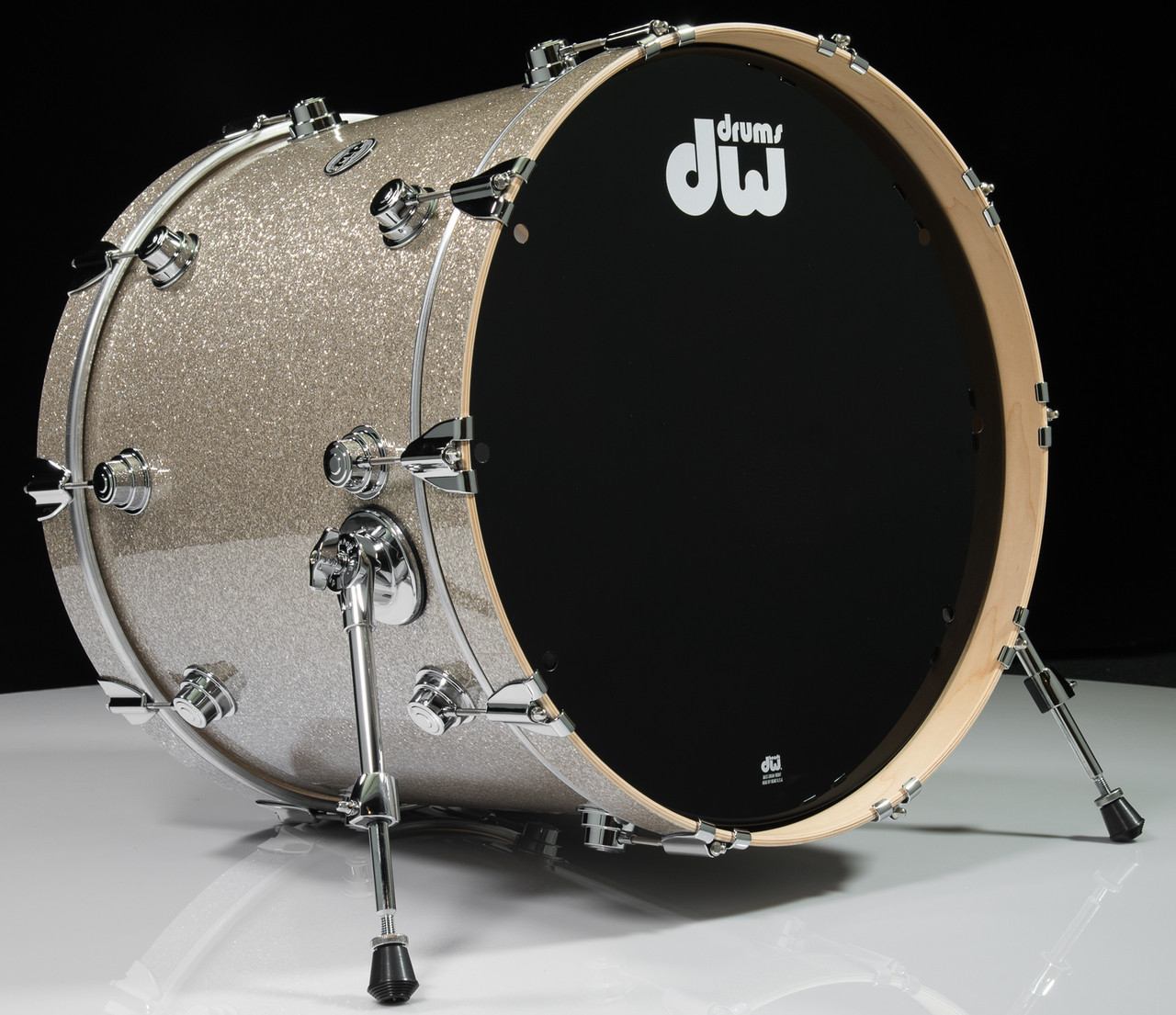 dw collector 39 s series bass drum 18x22 broken glass. Black Bedroom Furniture Sets. Home Design Ideas