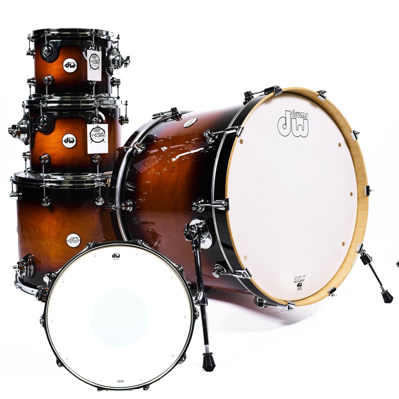 dw design series drum set 22 10 12 16 14 tobacco burst. Black Bedroom Furniture Sets. Home Design Ideas
