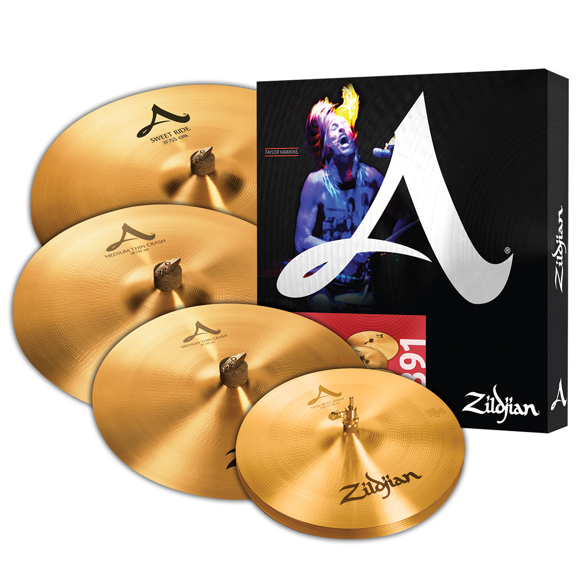 zildjian a zildjian series cymbal pack free 18 crash. Black Bedroom Furniture Sets. Home Design Ideas