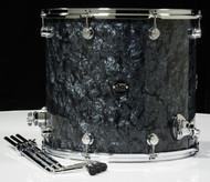 DW Performance Series 16x18 Floor Tom - Black Diamond - Front