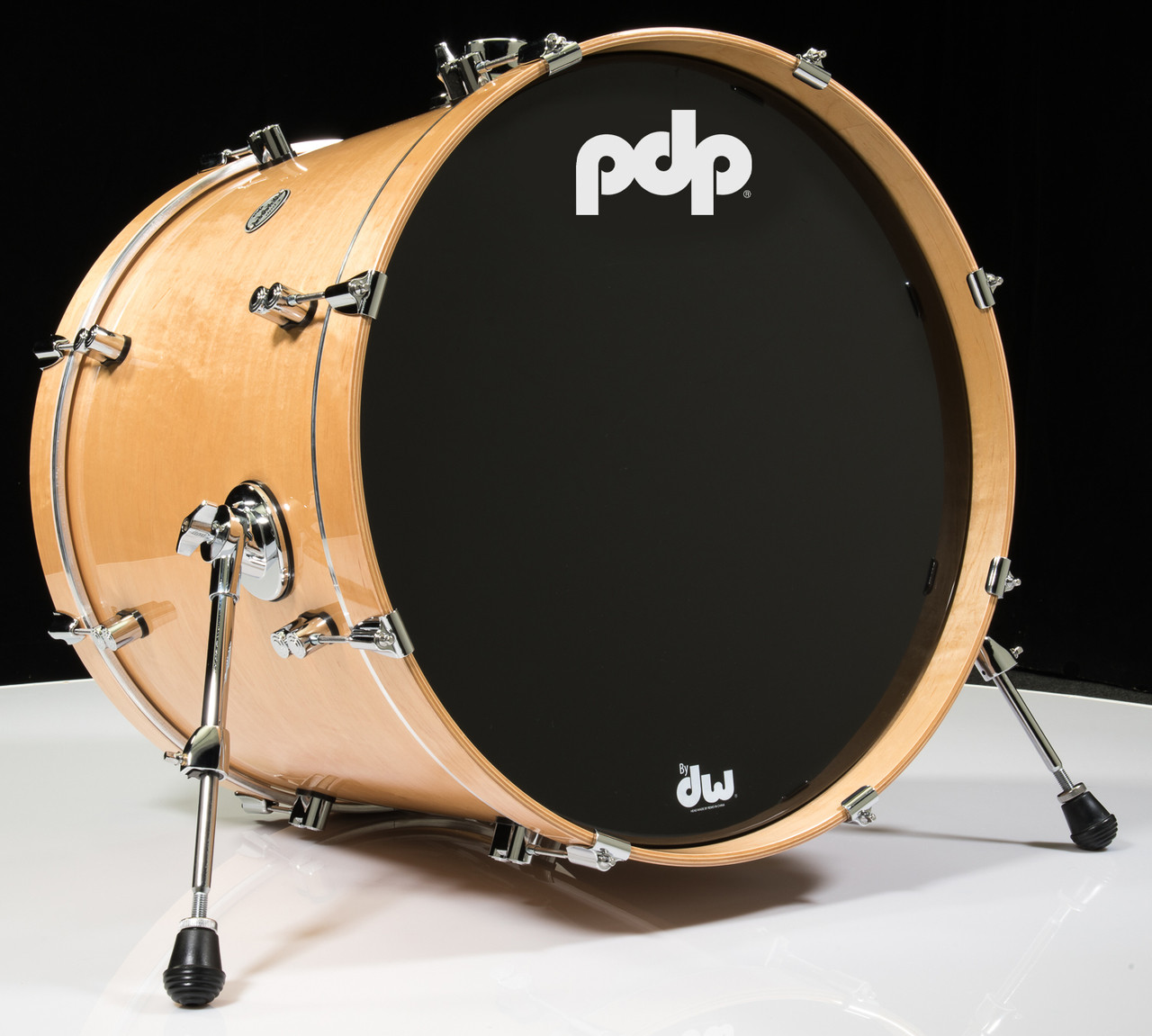 pdp concept maple natural bass drum 18x22. Black Bedroom Furniture Sets. Home Design Ideas