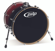 PDP Concept Maple Red to Black Fade Bass Drum - 18x22