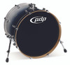 PDP Concept Maple Silver to Black Fade Bass Drum - 18x22