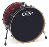 PDP Concept Maple Red to Black Fade Bass Drum - 18x24