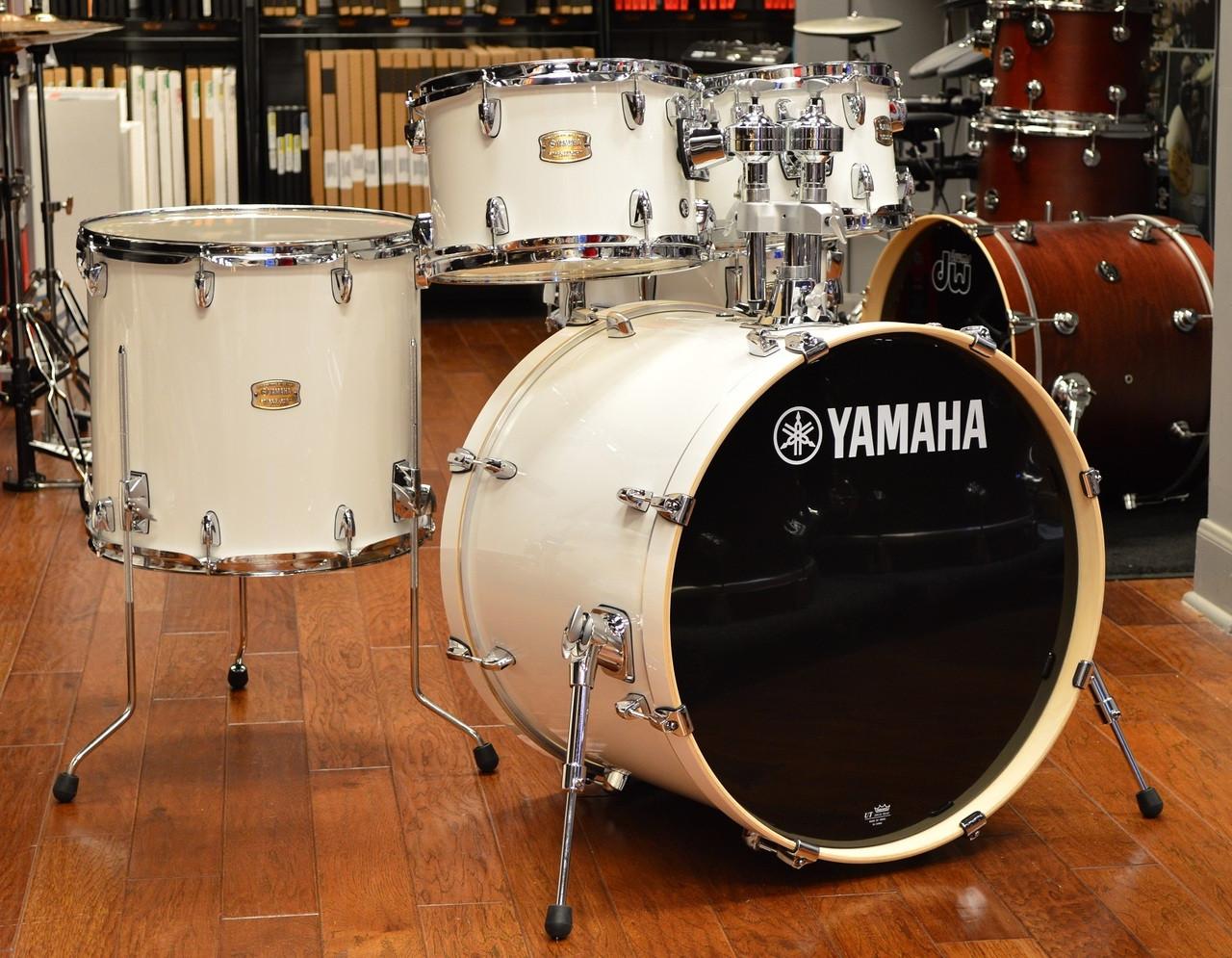 yamaha stage custom 5pc drum kit pure white. Black Bedroom Furniture Sets. Home Design Ideas