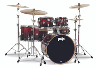 PDP Concept Maple 6pc Shell Pack - Red to Black Fade