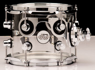 "DW Acrylic Design Series Drum 7"" x 8"" Tom - Clear"