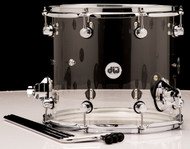 "DW Acrylic Design Series Drum 12"" x 14"" Tom - Clear"