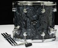 DW Performance Series 12x14 Floor Tom - Black Diamond - Front