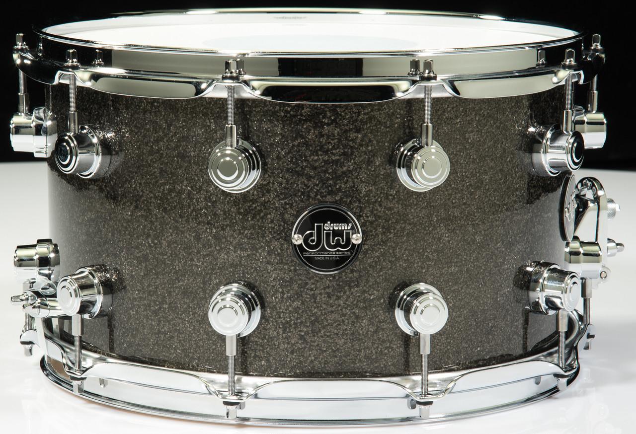 dw performance series 8x14 snare drum pewter sparkle. Black Bedroom Furniture Sets. Home Design Ideas