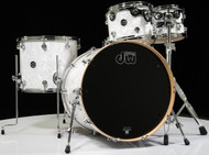 DW Performance Series 4pc Drum Kit White Marine 10/12/16/22