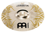 An auxiliary hi-hat with a very sharp and extremely cutting sound. The brilliant, chrome surface and the laser engraved tribal-design makes this cymbal's finish outstanding.