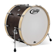 PDP Concept Maple Classic 14X24 Kick Walnut w/Natural Hoops