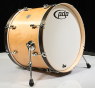 PDP Concept Maple Classic 16X22 Bass Drum Natural w/Walnut Hoops
