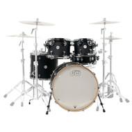 DW Design Series 5pc Drum Set 22/10/12/16/14 - Black Satin