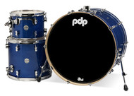 PDP Concept Maple 3pc Drum Kit Blue Sparkle