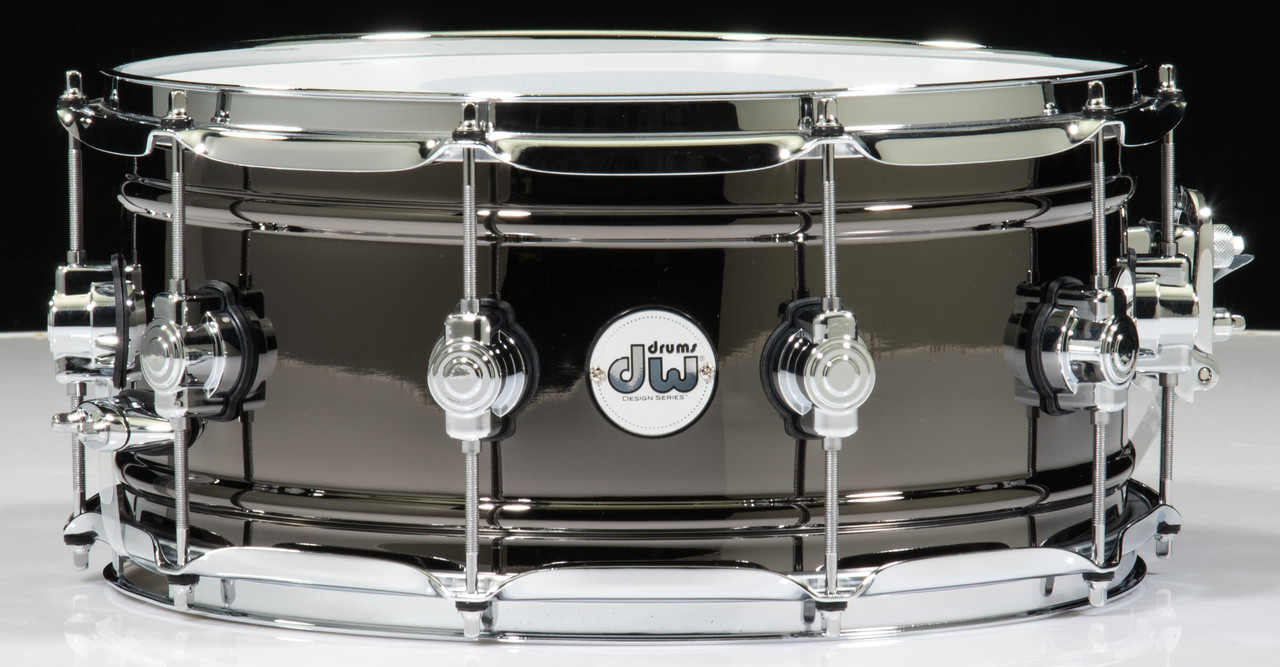 Dw Design Series Black Nickel Over Brass Snare Drum 14x6 5