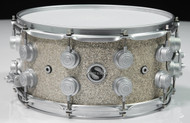 DW Collector's Broken Glass Super Solid Edge Snare Drum 7x14 Front