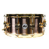 DW Bell Bronze 6.5x14 Snare Drum Gold Hardware 3mm Shell