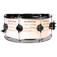 """DW Black Page Snare Drum Special Edition w/Bag and 7"""" Record"""