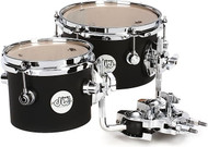 "DW Design Series Concert Tom Set 6""and 8"" Black Satin"