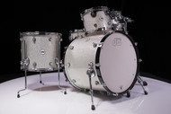 DW Design Series 5pc Drum Set Silver Sparkle Lacquer