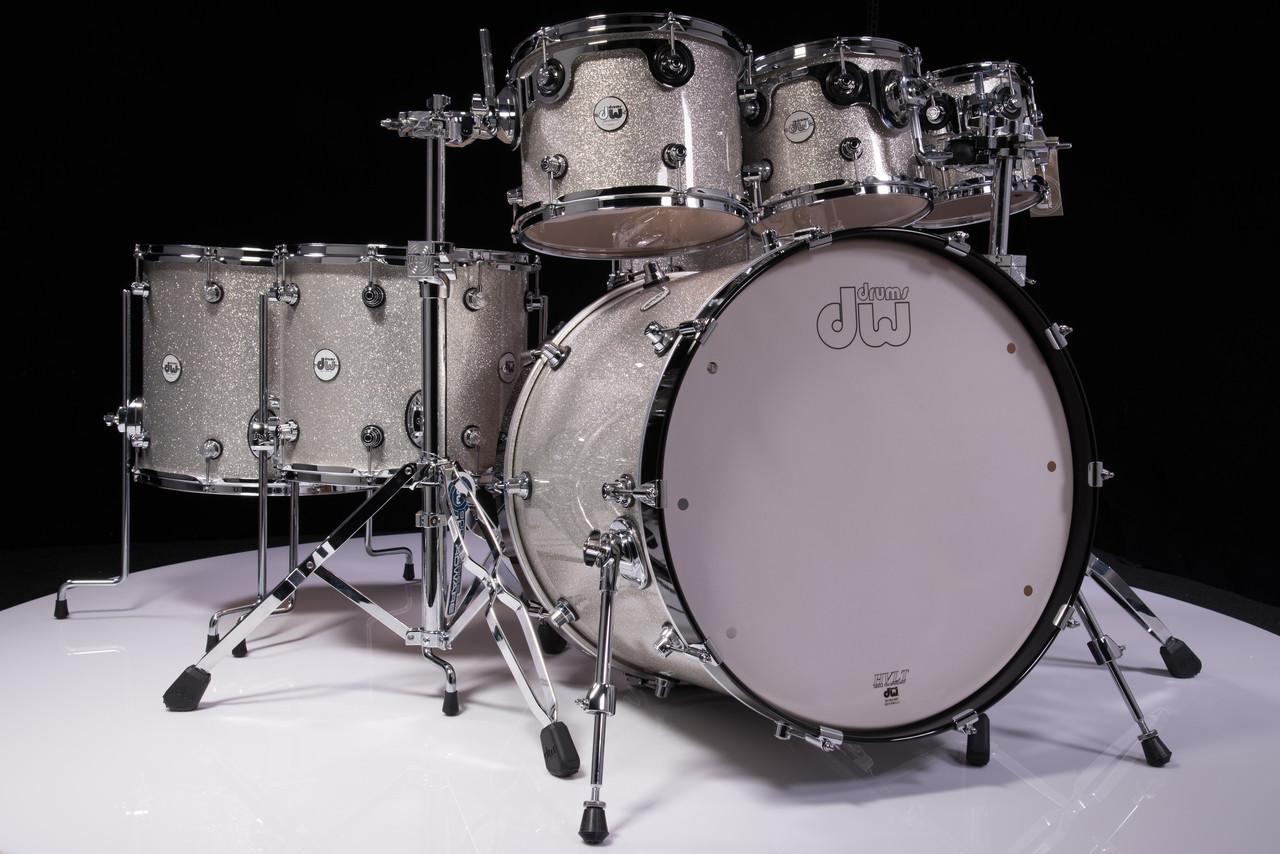 dw design series 7pc drum set silver sparkle lacquer. Black Bedroom Furniture Sets. Home Design Ideas