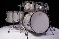 DW Design Series 7pc Drum Set Silver Sparkle Lacquer