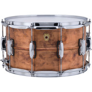 "Ludwig 8"" x 14"" Raw Copper Phonic Snare Drum with Imperial Lugs"