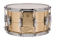 "Ludwig LB508K 8""x14"" Hammered Bronze Supraphonic Snare Drum w/ Imperial Lugs"