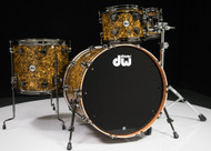 DW Collector's Maple Mahogany Drums 4pc Shell Pack - Gold Abalone