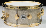 DW Collector's Broken Glass 6.5x14 w/ Gold Hardware Front