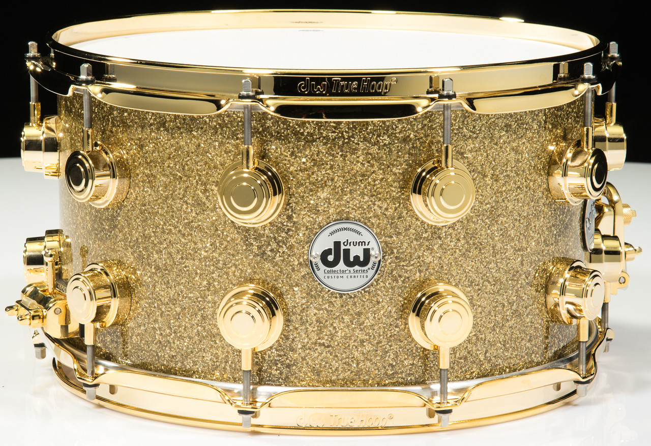 DW Collector's Series Snare 8x14 - Gold Glass - Gold Hardware