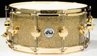 DW Collector's Series Snare 6.5x14 - Gold Glass - Gold Hardware