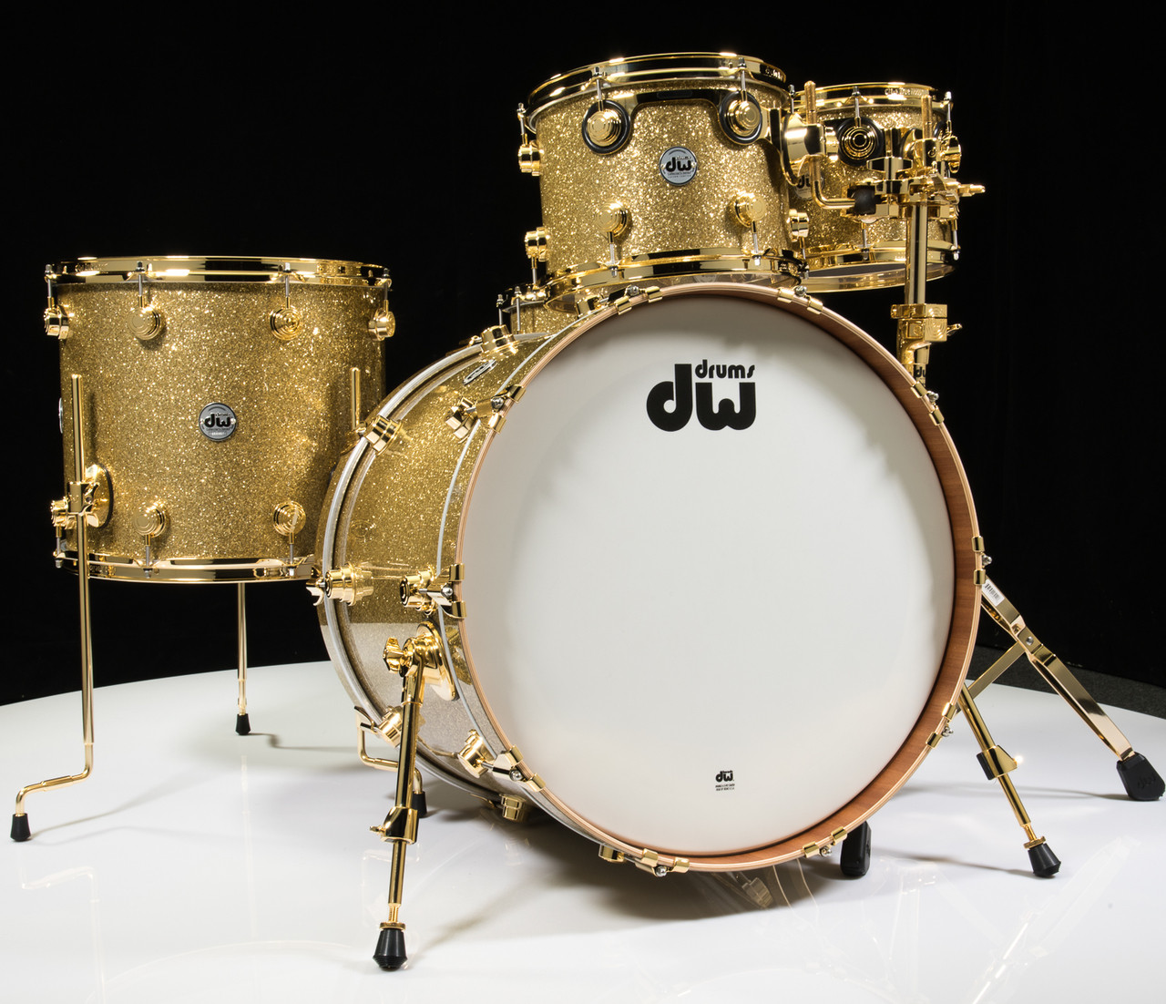 DW Collector's Series Maple Mahogany Drums 5pc Gold Glass